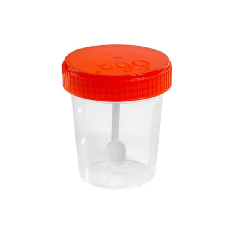 Контейнер для биопроб 60 мл полимерный со шпателем стерильный
