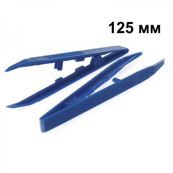 Пинцет остроконечный полимерный одноразовый стерильный, 125 мм