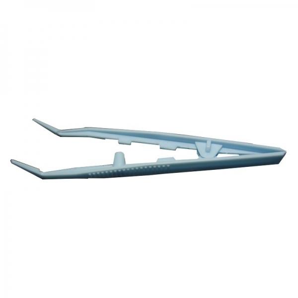 Пинцет полимерный одноразовый изогнутый стерильный 125 мм