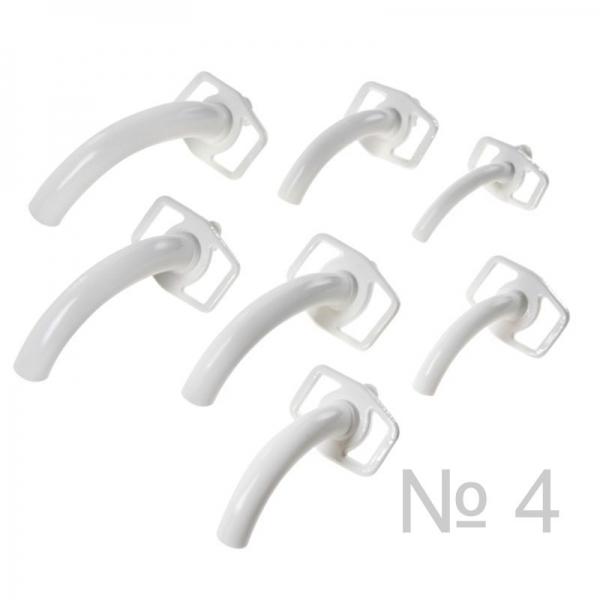 Трубка трахеотомическая пластмассовая № 4